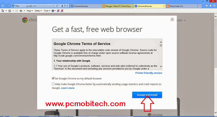 Google Chrome Offline Installer for Windows Vista, 7, 8, 8 1 and 10