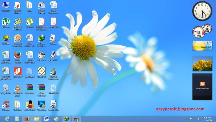 Windows 7 Gadgets for Windows 8