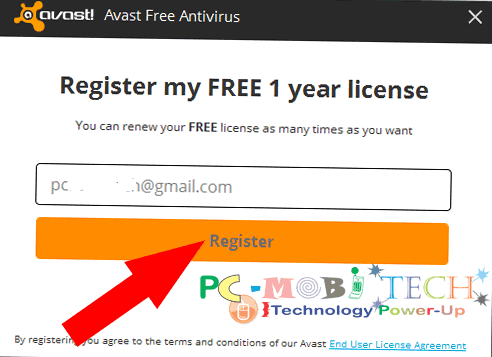 click-on-register-button-to-register-avast-free-antivirus-2017-www-pcmobitech-com