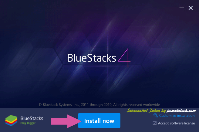 Bluestacks Installation screen-1