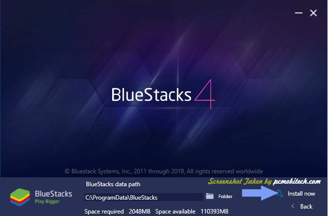 Bluestacks Installation screen-2