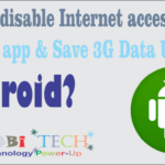 Disable internet access to all android apps & save 3G Data Usage