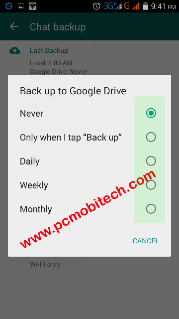 Backup-to-google-drive-frequency