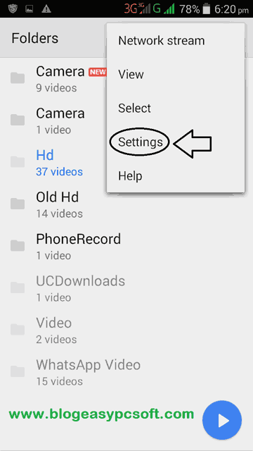 MX Player settings