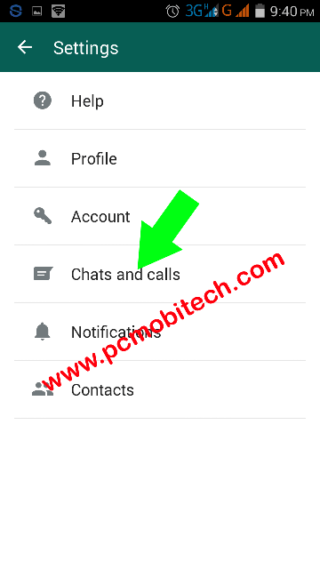 Chat & Call Option