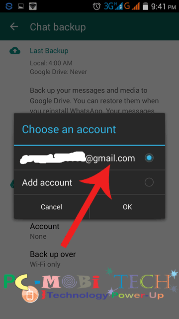 Select-your-gmail-account