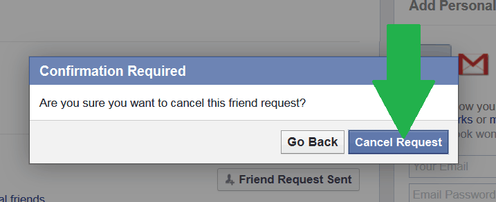 Pending Sent Friend Request :Click-on-Cancel-button-to-cancel-your-friend-request
