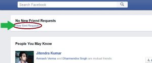 Facebook-View-sent-request-option