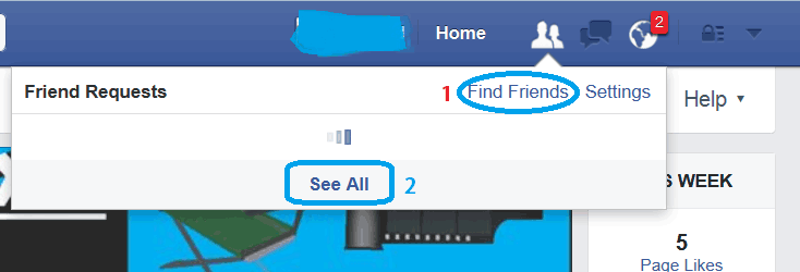 Pending Sent Friend Request :Now-tap-on-Find-Friends-option