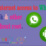 Block internet access to whatsapp, facebook & other app without root.