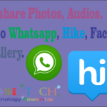 Share Photos, Audios, Videos from Gallery  to Whatsapp, Hike, Facebook.