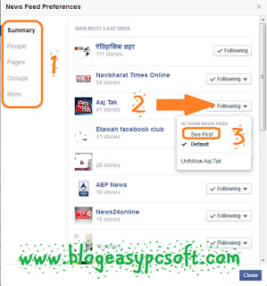 New Facebook News Feed Preferences Changes 2
