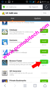 Find your addon & tap on the install button