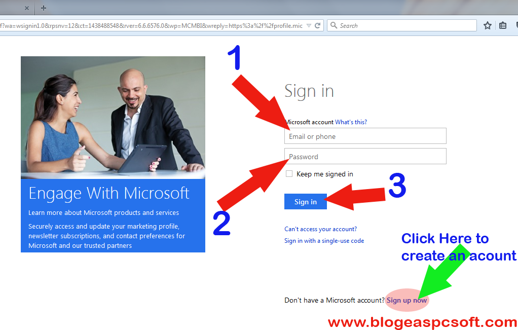 Windows 10 Technet sign on Page
