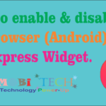 UC Browser (Android) UC Express enable & disable