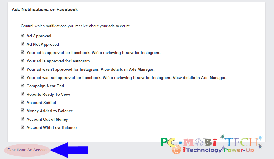 How to remove credit card info from facebook pcmobitech delete ads account ccuart