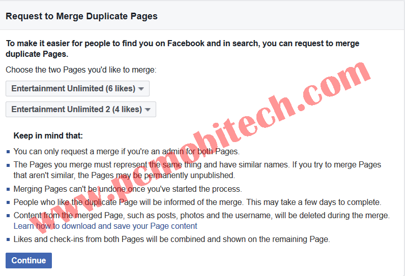 How to merge two similar facebook pages