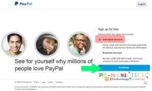 Individual-paypal account