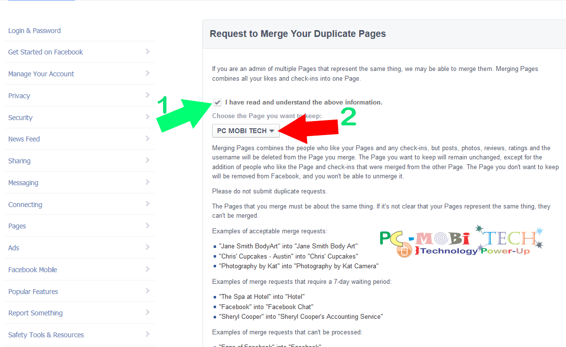 Request-to-merge-facebook-pages
