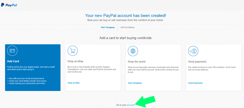 PayPal goto-account