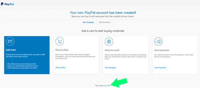 PayPal goto-account
