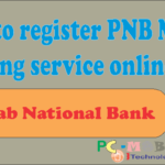 Full registration process PNB mobile banking online.