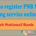Full registration process PNB mobile banking online.