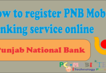 how to register pnb mobile banking service