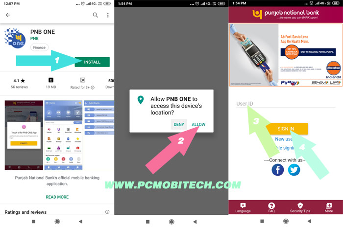 PNB ONE Mobile Banking App Activation