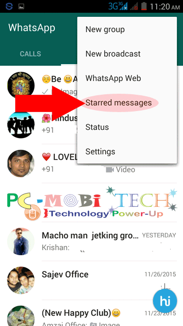 Starred-Messages Option