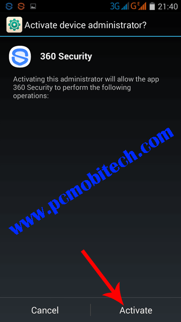 Activate-360-as-device-administrator