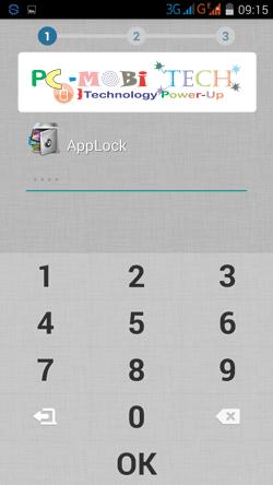 Domobile AppLock: Create-a-password