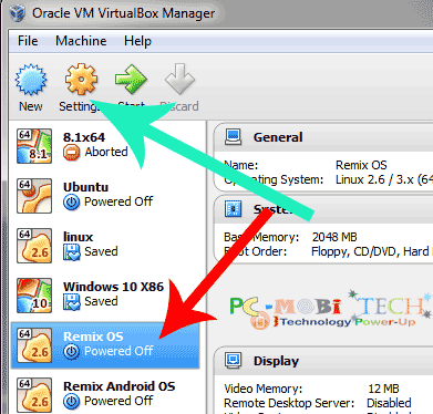 Select-os-&-click-on-Settings-virtualbox-virtual-machines