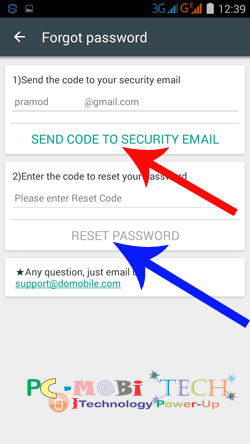 Send-Security-code-to-security-email-id