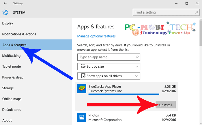Click-on-Apps-&-features-&-choose-your-app