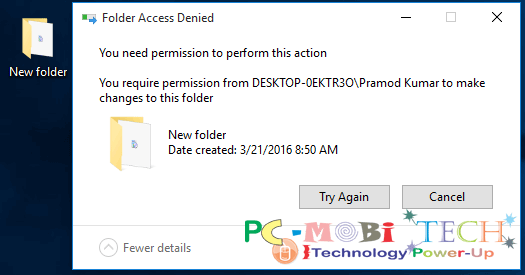 How to Rename, Move or delete protected folder