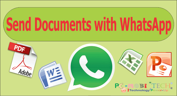 How to send Document or any type file via WhatsApp  - PCMobiTech