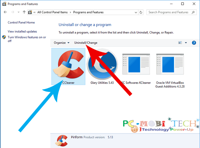 how to uninstall programs win 10