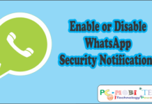 Enable or disable WhatsApp Encryption Security Notifications