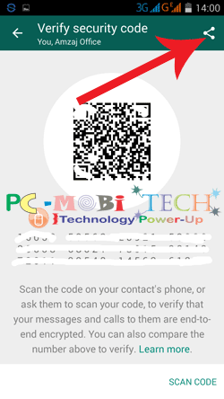 Share-your-Qr-Security-code