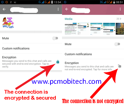 WhatsApp-Encryption security option