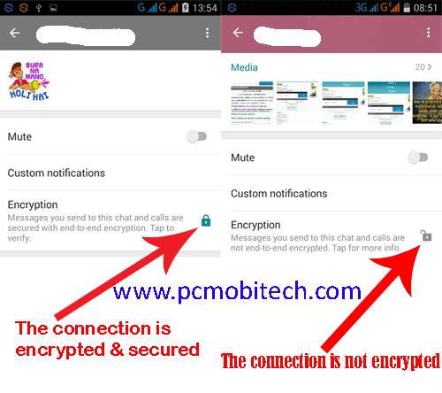 WhatsApp-Encryption security option