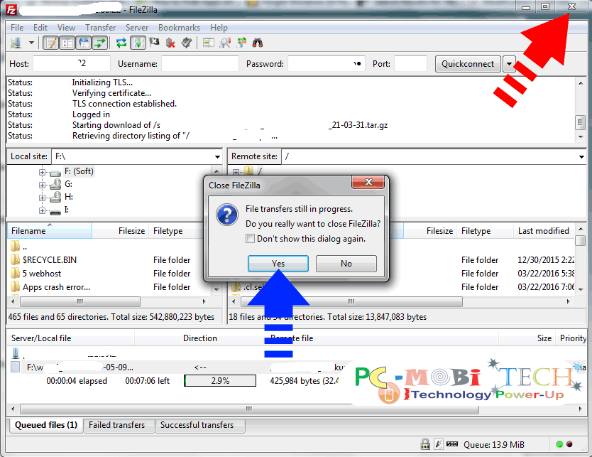 how to resume interrupted download  u0026 upload in filezilla