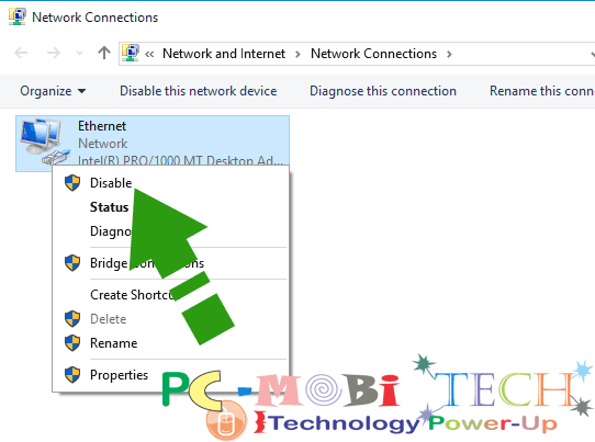 Disable-network-connection-in-windows-10