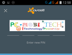 Enter-&-re-enter-4-digits-password-for-Avast-mobile-security-App-Locking-