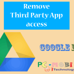 How to remove an app access from Google Drive?