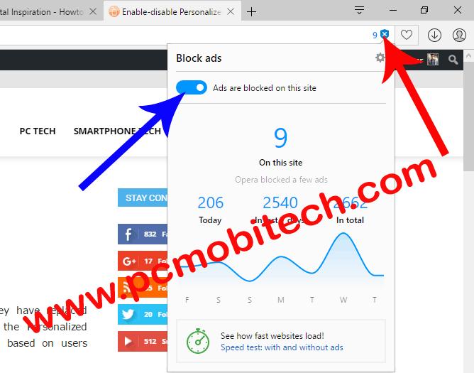 Disable-Opera Adblocker-for-a-specific-site
