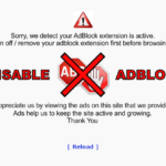 How to disable Opera inbuilt adblocker for a specific site.