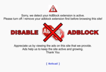 Sorry we detect your Adblock extension is active. Please turn off or remove the Adblock extension before browsing this site first