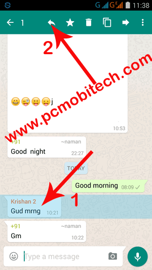 WhatsApp-reply to specific message option with new WhatsApp reply option.
